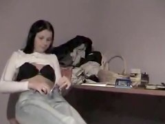 Legal Age Teenager girl took her bra off then guess what happened
