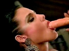 Lascivious black haired hoe Jeanna Fine gets eaten and fucked hard