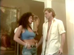 Bosomy curly brunette Angelica gets her punani licked