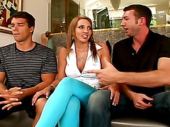 A heart stopping threesome scene with the hot Kelly Divine