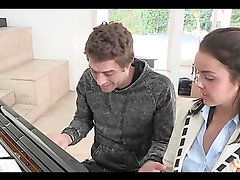Dillion Harper takes a pounding from her piano instructor