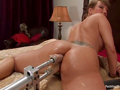 Hungry milf Ava Devine got two machines to play with
