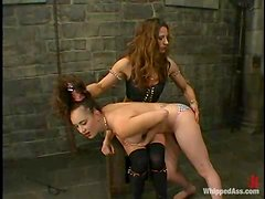 Long-haired hottie gets tortured and fucked in terrific BDSM scene