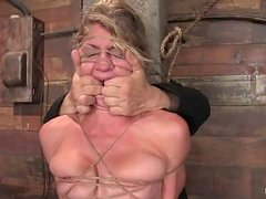 Gorgeous blondie is getting arched and something else