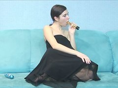 Solo Pocket Rocket Teen Goes Crazy with her Favorite Toy!