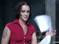 Crazy Torture and Spanking Action for Sara Faye Tied and Toyed