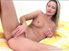Samantha Jolie fingers and fucks a toy