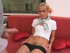 This reality video involves a petite teen with one seriously tight body having clothed sex
