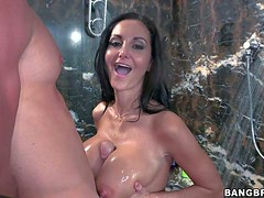 Black haired one and only Ava Addams with delicious round
