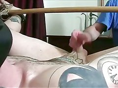 Tatted Punk Gets Tied Up and Jerked