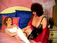 Blond MILF with huge saggy tits strapons her lesbo GF mish style