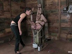 Rain DeGrey Tortured and Wrapped in Foil Paper in BDSM Vid