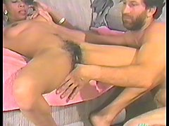 Slim ebony girl gets fucked in her extremely hairy pussy