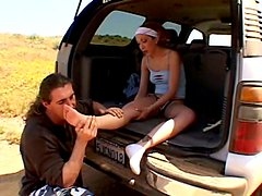 Hot and humid car sex day with an amateur chick