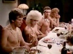 Nudist birthday dinner ending up with hot group sex orgy