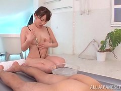 Rimjob and Cock Ride in Nuru Massage Video with Mao Kurata