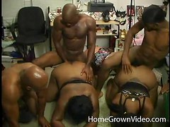 Bootylicious Black chicks get fucked tough in group sex video