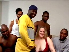 Busty Shannon Monroe gets gangbanged by Black guys