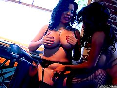 Sienna West and Alexis Amore satisfy their lesbian desires together