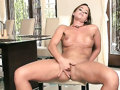 Sinfully sexy sex kitten spends time
