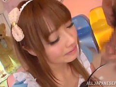 Sweet Asian With Barbiedoll Face Gets Deepthroted