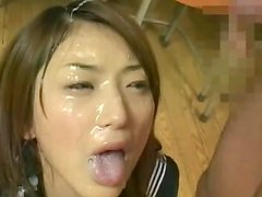 Alluring Japanese cum-swallowing cumpilation video