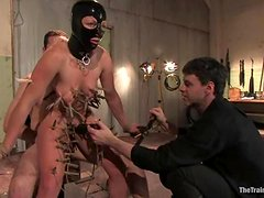 Dia Zerva gets suspended and tortured with clothespins
