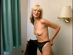 Blonde mom Kari gives a hot blowjob and gets banged doggy style