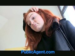 Redhead skank blows ardently and gets fucked doggy style