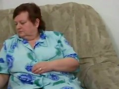 Busty BBW Granny Caught Wanking By Her Neighbor Stud