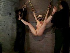 Blindfolded blond bitch is going to love some perversions of BDSM