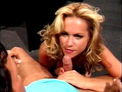 Horny and sexy boss is blowing her employee