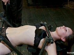 Nipple Torture and Toying Fun for Cute Skinny Chick