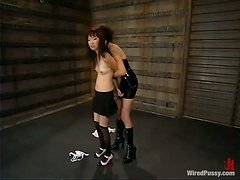 Dominant Vixen Toying a Tied Up Asian's Pussy in Femdom Bondage Video