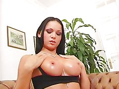 Hot anal threesome for the slutty brunette Kristina