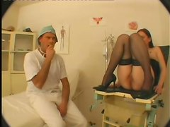 She opens up her petite legs for her doctor