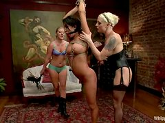 Brunette Amy Brooke gets humiliated by two blonde girls