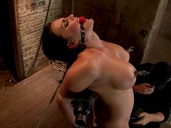 Smoking hot brunette angel Mackenzee Pierce is in pain