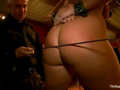 Kait Snow the poor servant gets whipped and toyed
