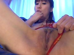 Solo Japanese girl Misuzu Imai having fun
