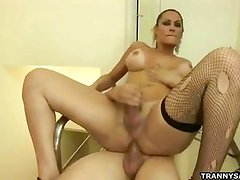 Shemale honey Rabeche Rayala gets fucked hard anally