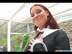 Rough anal sex leaves redhead with a facial in POV