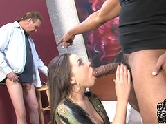 Sweet Tiffany Star Goes Hardcore With A Black Dude In Front Of Her Cuckold