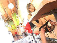 Succulent Risi Takes Her Black Panties Out In Public