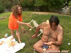 Marvelous Myah Monroe Goes Hardcore With A Fat Guy