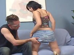 Brunette with a fine ass gets penetrated hard