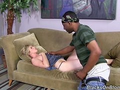 Amazing Mandy Lou Gets A Big Black Surprise While She Is Asleep