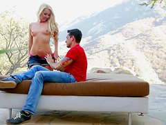 Aaliyah Love the petite blondie gets fucked gently outdoors