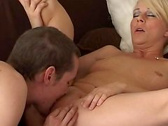 Awesome slutty blonde is getting face-fucked