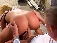 Sweet blonde Anja is sucking this spicy dick